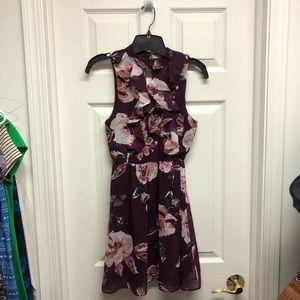 Blue Rain Purple Ruffle Homecoming Style Dress